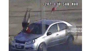 Persecución en San Martín: escapaban de la Policía y casi matan a una mujer y su beba