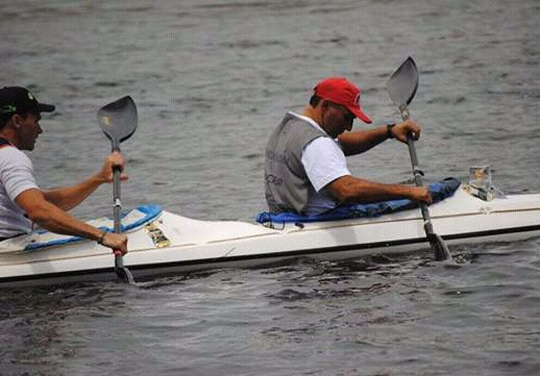 En el agua. Los paranaenses realizaron un gran trabajo al quedarse con casi todas las etapas en la regata internacional.