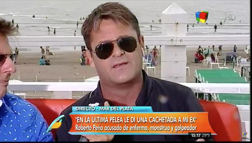 Roberto Peña: Se me escapó un cachetazo contra mi ex