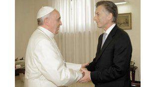 El papa Francisco y Mauricio Macri.  Foto: Télam
