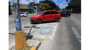 Antes las punteras eran el refugio de los peatones. UNO/Diego Arias.