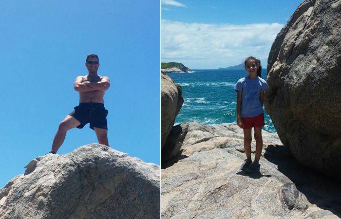 Un hombre y su hija desaparecieron el viernes cuando  se arrojó al mar para rescatar a la nena.