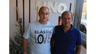 Los organizadores  Andrés Solioz y Alberto Sampayo hablaron de las carreras.