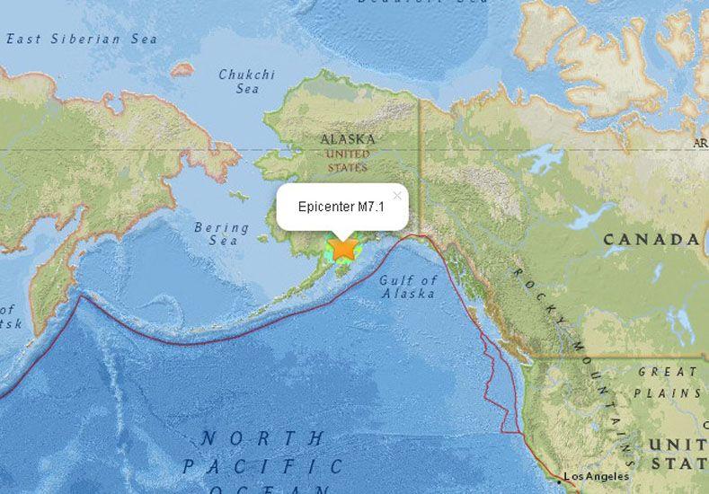 Terremoto de 7.1 grados sacude Alaska