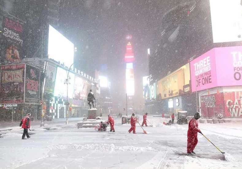 Una entrerriana contó cómo vive la tormenta de nieve que azota a Nueva York