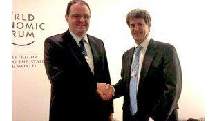 El ministro de Hacienda se reunió el miércoles en Suiza con su par brasileño. (DyN)