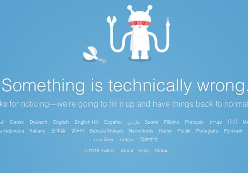 Fallas en Twitter