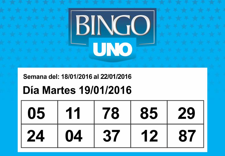 Los Números del Bingo UNO