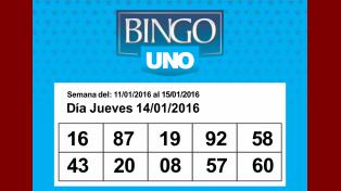Los números de Bingo UNO