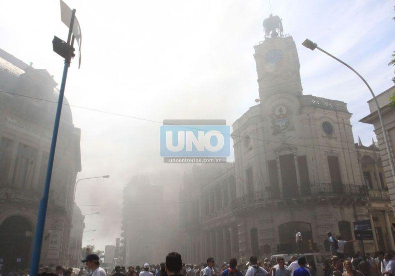 Municipales. El gremio normalizará su conducción. La foto corresponde a una protesta de 2015. (Foto UNO/Juan Ignacio Pereira)