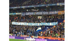 Insólita bandera del Espanyol de Barcelona: Antonio de la Rúa, contigo empezó todo