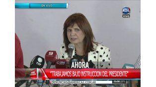 Bullrich aseguró que Macri está contento pero alerta por las detenciones