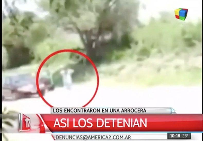 #Video: el momento de la detención de los prófugos