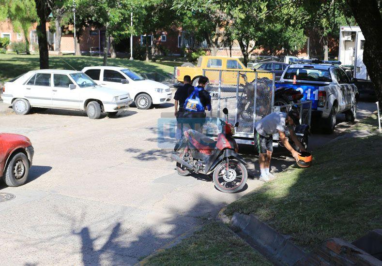 Ayer se despelgó un control de motos en la zona. (Foto: UNO/Diego Arias