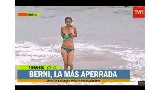 Perdió la bikini en vivo