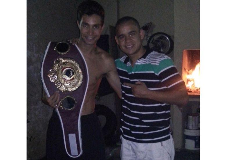 Amigos. El atleta Federico Bruno y su amigo el boxeador Gustavo Víttori