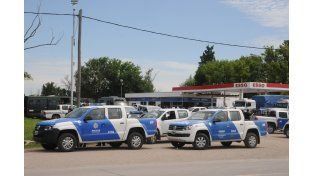 La estación de servicio que hizo de base de operaciones de las fuerzas de seguridad.