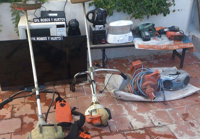 Desvalijadas. Desde electrodomésticos hasta herramientas.