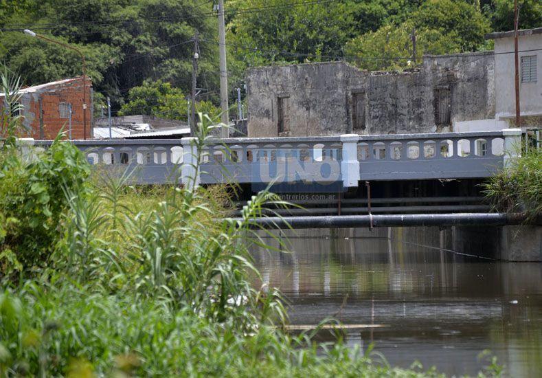El arroyo está cerca del puente sobre avenida Estrada. UNO/Mateo Oviedo.