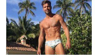Ricky Martin revolucionó las redes sociales con una foto en sunga
