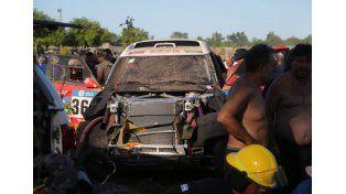 El Dakar comenzó con un accidente