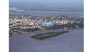 La creciente vista desde el cielo de Paraná