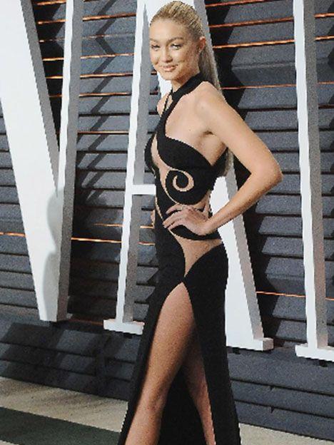 Gigi Hadid en la fiesta de Vanity Fair post Oscars el 22 de febrero.
