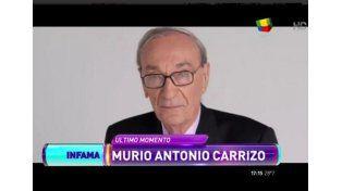Falleció Antonio Carrizo