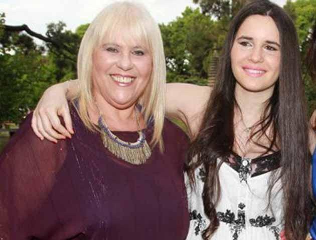 Laura Ubfal y su hija actriz.