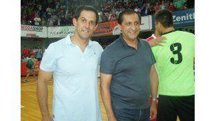 Dieron su apoyo. El entrerriano Víctor Bernay y el riojano Ramón Díaz