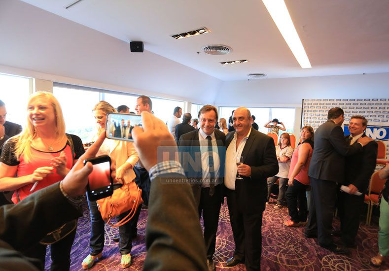 Una con Varisco. El empresario Abelardo Pelegrino Rebecchi junto al intendente de Paraná. (Foto UNO)