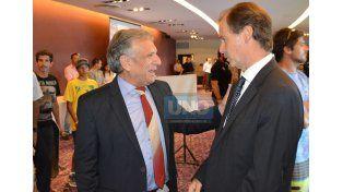 Maiocco y Bordet. El intendente y el gobernador dialogaron sobre la realidad de Victoria. (Foto UNO)