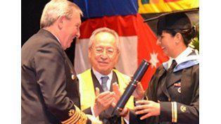 Pionera. López fue la primera mujer de Prefectura en graduarse en una universidad de Suecia. (Foto gentileza LT 39)