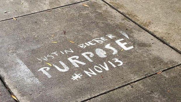El municipio de San Francisco se quejó por grafitis promocionales de Justin Bieber