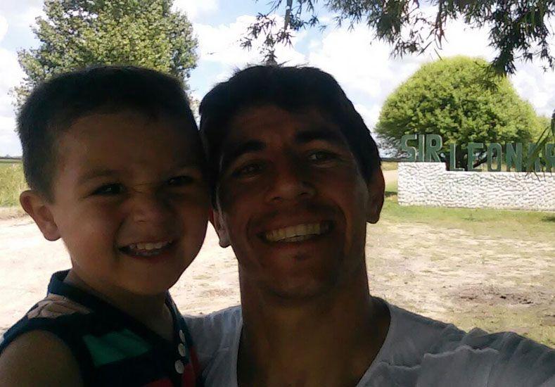Con su hijo Felipe Martín