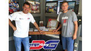 El nacido en Crespo sigue creciendo en su corta carrera como piloto.
