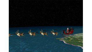Seguí el camino de Papá Noel en la Web
