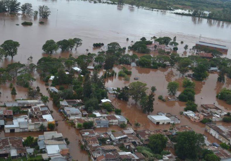 Grave. La situación se complica en Concordia a medida que pasan las horas y el río crece. Foto Gentileza/Diario Concordia