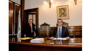 Ríos al leer su fallo. (Foto: UNO/Mateo Oviedo)