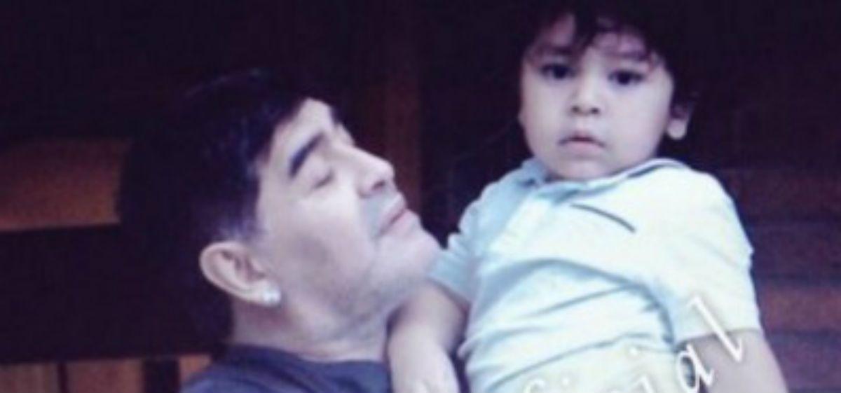 Maradona visitó a Dieguito Fernando