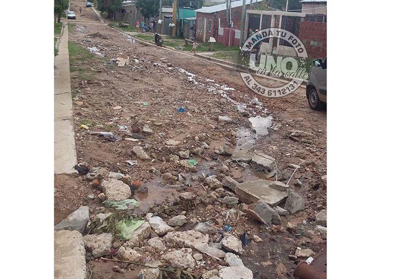 Concordia: Vecinos de barrio Villa Jardín reclaman el arreglo de calles