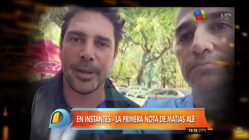 Matías Alé habló por primera vez de su internación: Estoy bien