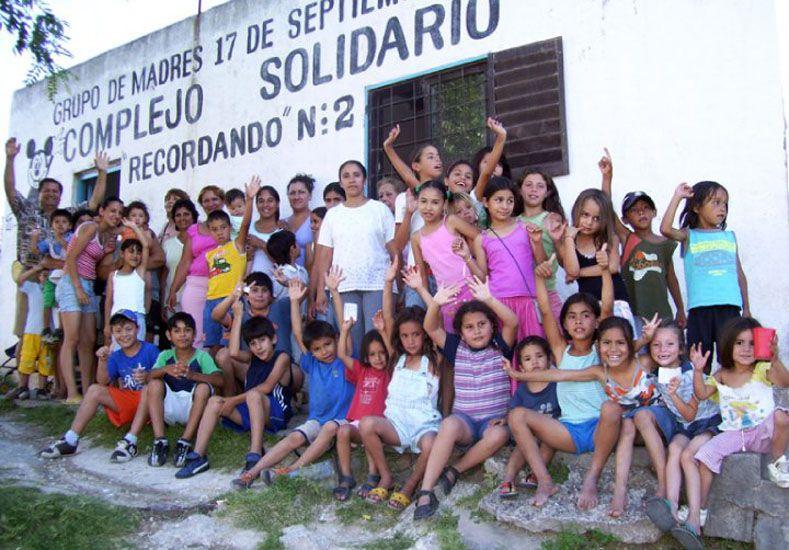 Festejo. El sábado celebraron en un comedor de La Milagrosa.  Foto Gentileza/Claudio del Lago