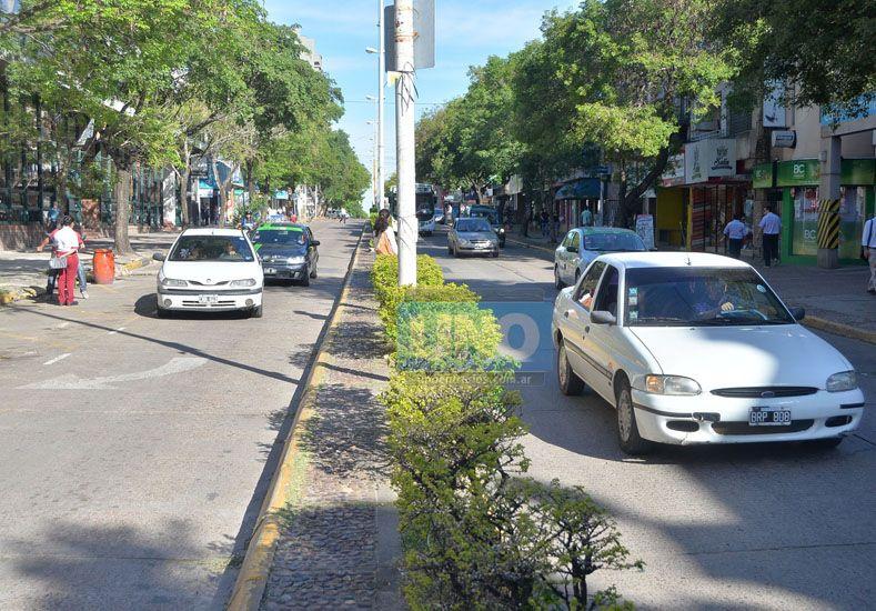 Circulación despejada.  El nuevo panorama de calle 25 de Mayo. Foto UNO/Juan Manuel Hernández