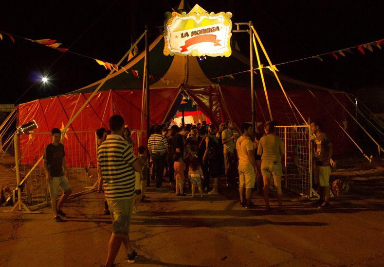 La nueva carpa del circo en Paraná. Gentileza/Felipe Toscano.