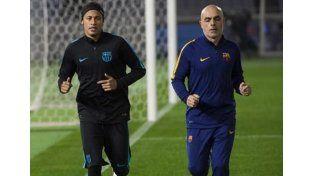 Neymar entrenó, pero todavía es duda