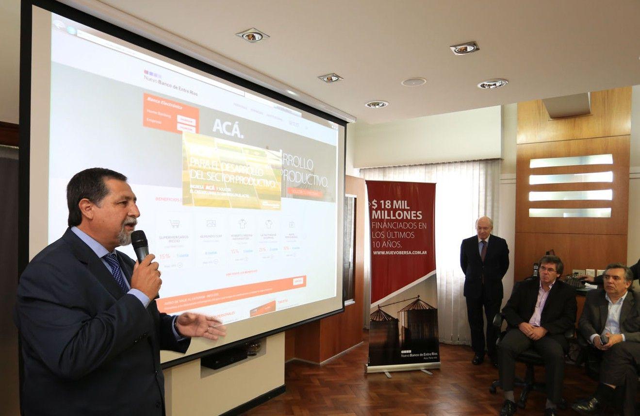 El Nuevo Banco de Entre Ríos presentó un sistema para obtener la asistencia crediticia online