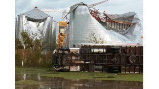 Destrozos en la cooperativa de Arangure (Foto gentileza Seguí Noticias)