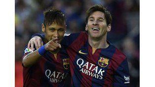Neymar y Messi. Foto: Télam