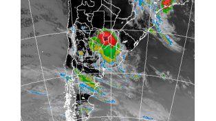 Imagen satelital del Servicio Meteorológico Nacional.